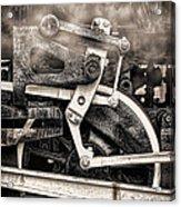 Wheel And Steam Acrylic Print