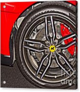 Wheel Of A Ferrari Acrylic Print