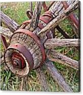 Wheel Of Old Acrylic Print by Marty Koch