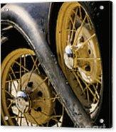 Wheel To Wheel Acrylic Print