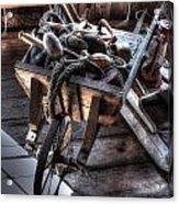 Wheelbarrow At Shipyard Acrylic Print