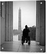 Wheelchair Vet Salute Acrylic Print