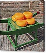 Wheels Of Dutch Gouda Cheese Acrylic Print by Artur Bogacki