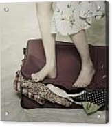 When A Woman Travels Acrylic Print