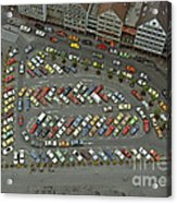 When Cars Were Colorful 1980s Acrylic Print by David Davies