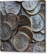 When Dimes Were Made Of Silver Acrylic Print
