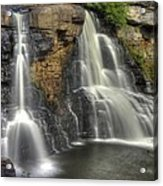 When Light And Water Falls-1a Blackwater Falls State Park Wv Autumn Mid-morning Acrylic Print
