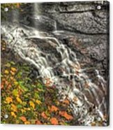 When Light And Water Falls-5a Blackwater Falls State Park Wv Autumn Mid-morning Acrylic Print