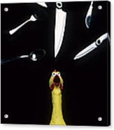When Rubber Chickens Juggle Acrylic Print