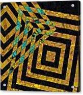 When Squares Merge Yellow Acrylic Print