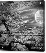 When The Moon Comes Over Da Mountain Acrylic Print