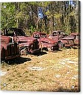 Where Old Vehicles Go Acrylic Print