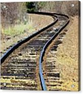 Where The Tracks Bend Acrylic Print