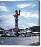 Where The West Begins Stateline Casino In Wendover Nevada 1962 Acrylic Print