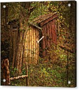 Which Way To The Outhouse? Acrylic Print by Priscilla Burgers