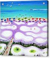 Whimsical Beach Umbrellas - Seashore Acrylic Print