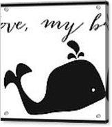 Whimsical Whale Acrylic Print