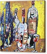 Whimsical Wine Bottles Acrylic Print