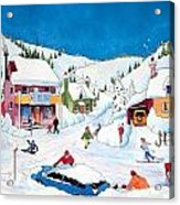 Whimsical Winter Village Acrylic Print