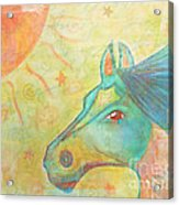 Whimsy Colorful Horse Acrylic Print