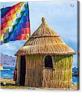 Whiphala Flag On Floating Island Acrylic Print