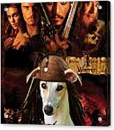 Whippet Art - Pirates Of The Caribbean The Curse Of The Black Pearl Movie Poster Acrylic Print