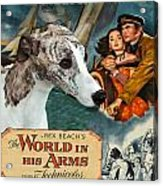 Whippet Art - The World In His Arms Movie Poster Acrylic Print