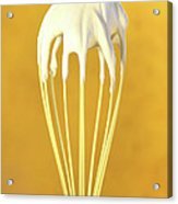 Whisk With Whip Cream On Top Acrylic Print by Sandra Cunningham