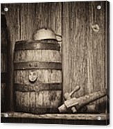 Whiskey Barrel Still Life Acrylic Print