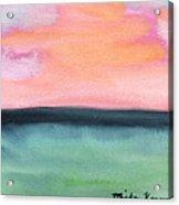 Whispy Pink/organge Sky Acrylic Print