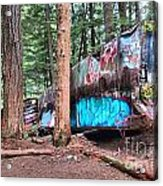 Whistler Train Wreckage Among The Trees Acrylic Print