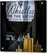 Whistles On The Water Acrylic Print