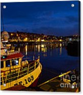 Whitby Upper Harbour At Night Acrylic Print