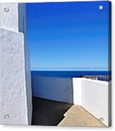 White And Blue To Ocean View Acrylic Print