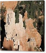 White And Red Rocks Of Bryce Np Acrylic Print