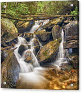 White And Rocky Hdr Acrylic Print