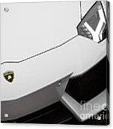 White Aventador Acrylic Print