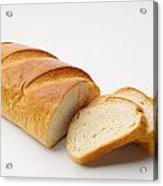 White Bread With Slices Acrylic Print