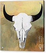 White Buffalo Skull Acrylic Print