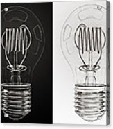 White Bulb Black Bulb Acrylic Print