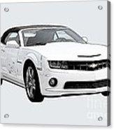 White Camaro Acrylic Print