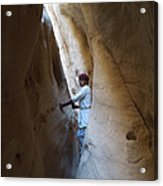 White Canyon Path Desert Sinai Egypt Acrylic Print