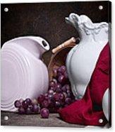 White Ceramic Still Life Acrylic Print