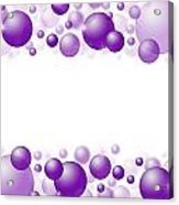 White Christmas Background With Purple Balls. Acrylic Print