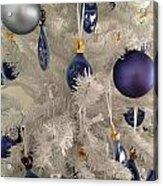 White Christmas Tree Acrylic Print
