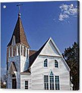 White Church Acrylic Print by Elena Nosyreva