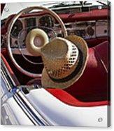 White Classic Mercedes Benz 230 Sl Acrylic Print