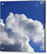 White Clouds Art Prints Blue Sky Acrylic Print