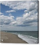White Clouds Over The Ocean Acrylic Print