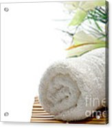 White Cotton Towel Acrylic Print